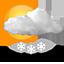 Das Wetter für Reykjavik, Island am: 19. Dec.: Leichter Schneeschauer